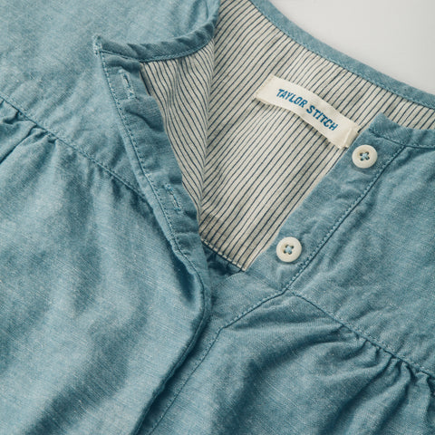 The Parker in Chambray - alternate view