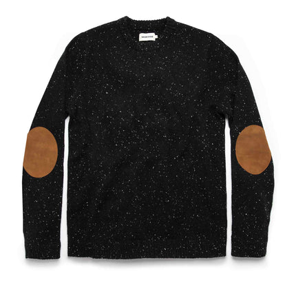 The Hardtack Sweater in Black Yak Donegal: Featured Image