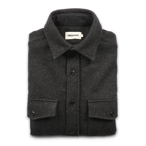 The Maritime Shirt Jacket in Charcoal - featured image