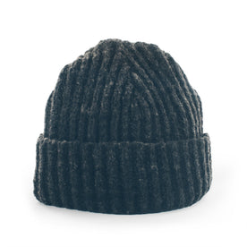 The Merino Wool Beanie in Charcoal: Featured Image