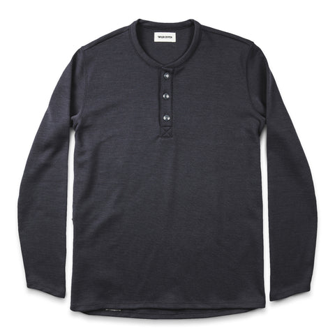 The Merino Henley in Charcoal - featured image