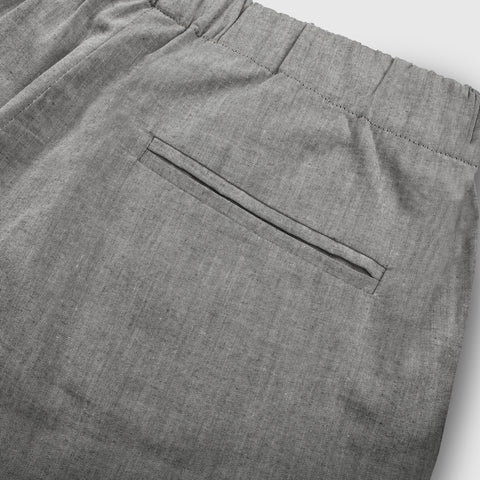 The Isla Pant in Charcoal Cotton - alternate view