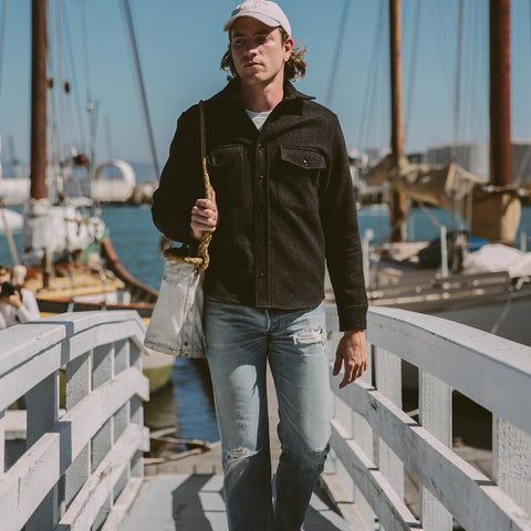 The Maritime Shirt Jacket in Charcoal - alternate view