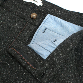 The Telegraph Trouser in Charcoal Tweed Herringbone: Alternate Image 1