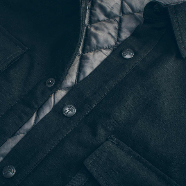 The Chore Jacket in Black Ripstop Canvas