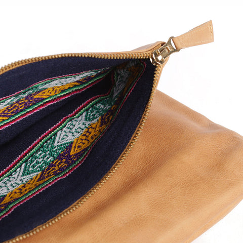 Lima Clutch in Almond - alternate view