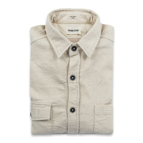 The Utility Shirt in Cone Mills Corded Natural - featured image