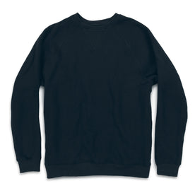 The Merino Crewneck in Black Fleece - featured image