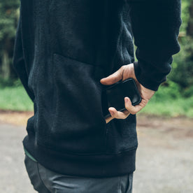 The Merino Crewneck in Black Fleece: Alternate Image 1
