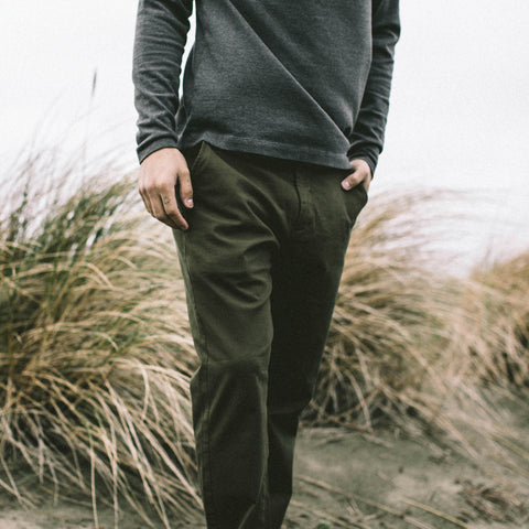 The Democratic Chino in Organic Olive - alternate view
