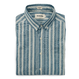 The Short Sleeve California in Blue Striped Chambray: Featured Image