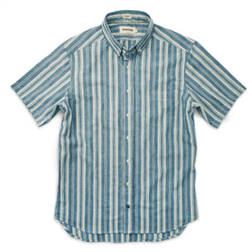 The Short Sleeve California in Blue Striped Chambray: Alternate Image 6