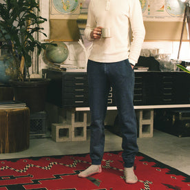 Sea Washed Indigo Fleece Sweatpants: Alternate Image 6