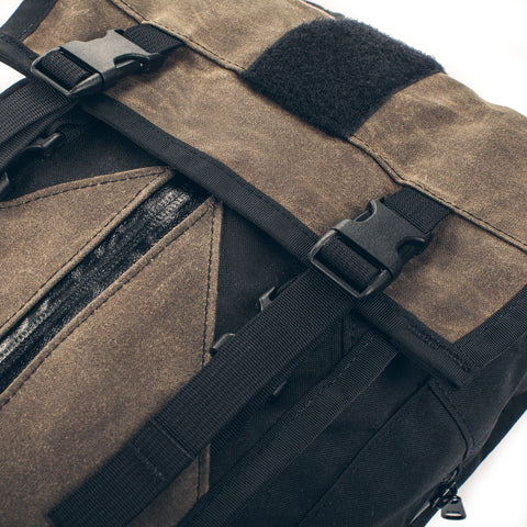The Hydration Pack in Oak Waxed Canvas - alternate view