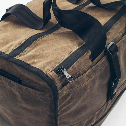 The Transit Duffel in Oak Waxed Canvas - alternate view