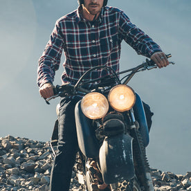 The Triple Needle Moto Utility Shirt in Navy: Alternate Image 5