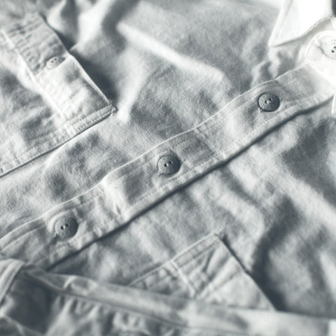 The California in White Everyday Chambray - alternate view