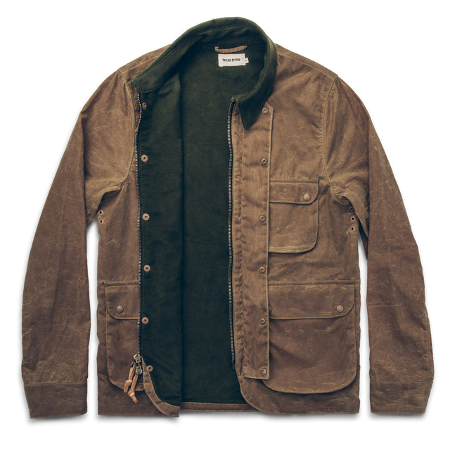 The Rover Jacket in Field Tan Waxed Canvas