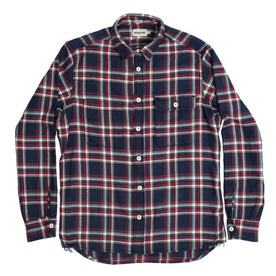 The Triple Needle Moto Utility Shirt in Navy: Alternate Image 2