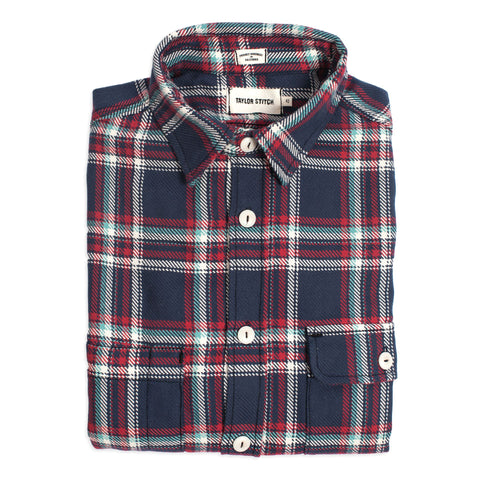 The Triple Needle Moto Utility Shirt in Navy - featured image