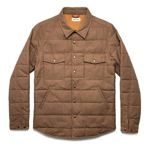 The Garrison Shirt Jacket in British Khaki Dry Wax - featured image