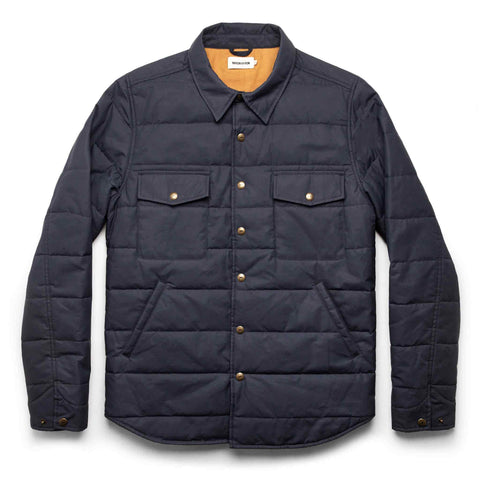 The Garrison Shirt Jacket in Navy Dry Wax - featured image