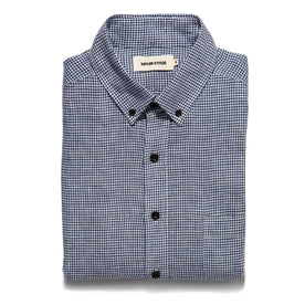 The Jack in Navy Mini Gingham Linen: Featured Image