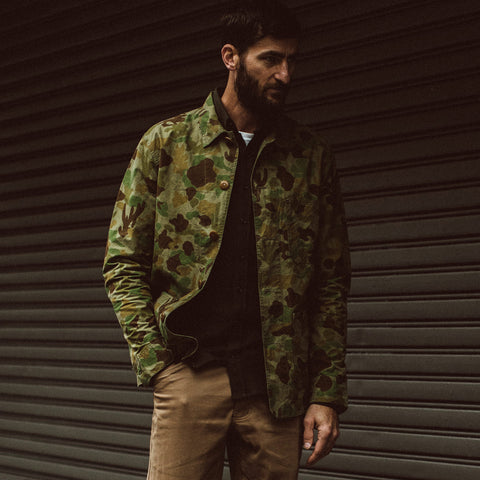The Ojai Jacket in Arid Camo Dry Wax - alternate view