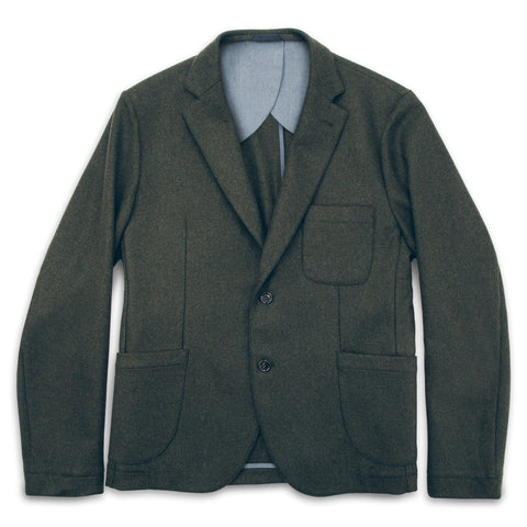 The Telegraph Jacket in Olive Wool - featured image