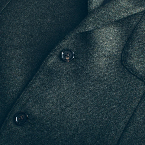 The Telegraph Jacket in Olive Wool - alternate view