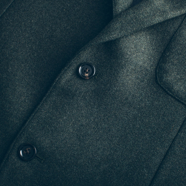 The Telegraph Jacket in Olive Wool