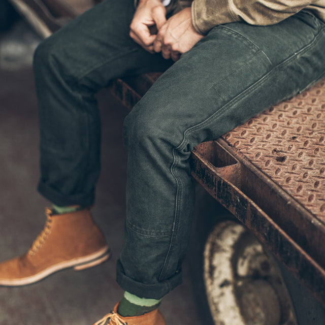 The Chore Pant in Washed Olive