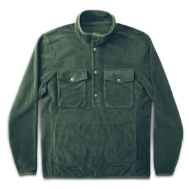 The Pack Pullover in Olive Polartec Fleece: Featured Image