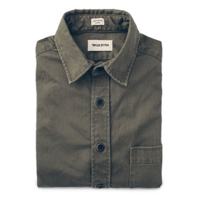 The Mechanic in Washed Olive Herringbone: Featured Image