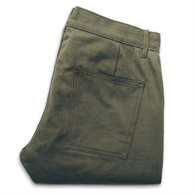 The Camp Pant in Olive Drab Herringbone: Alternate Image 3