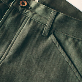 The Camp Pant in Olive Drab Herringbone: Alternate Image 2