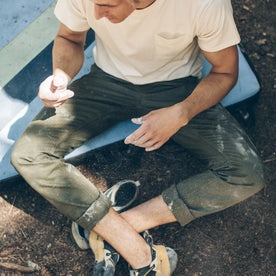 The Camp Pant in Olive Drab Herringbone: Alternate Image 6