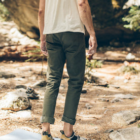 The Camp Pant in Olive Drab Herringbone: Alternate Image 1