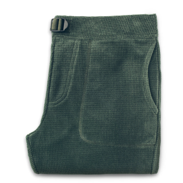 The Pack Pant in Olive Polartec Fleece