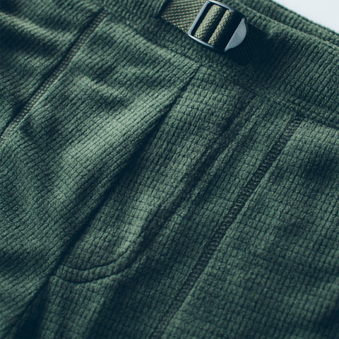 The Pack Pant in Olive Polartec Fleece - alternate view