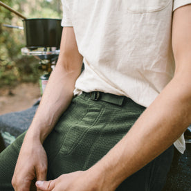 The Pack Pant in Olive Polartec Fleece: Alternate Image 2