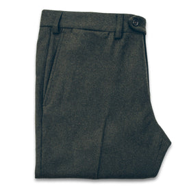 The Telegraph Trouser in Olive Wool: Featured Image