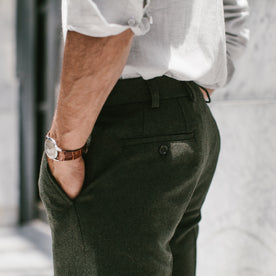 The Telegraph Trouser in Olive Wool: Alternate Image 3