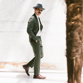 The Telegraph Trouser in Olive Wool: Alternate Image 6