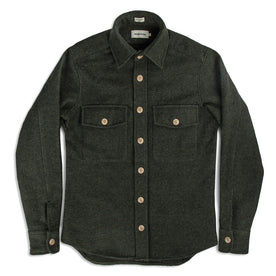 The Maritime Shirt Jacket in Moss Donegal Wool: Alternate Image 2