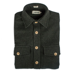The Maritime Shirt Jacket in Moss Donegal Wool: Featured Image