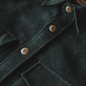 The Maritime Shirt Jacket in Moss Donegal Wool: Alternate Image 1