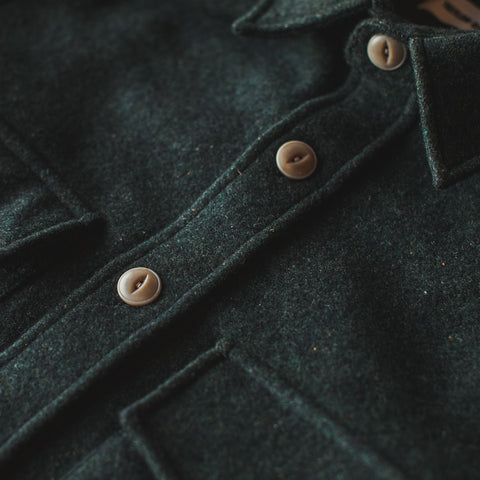 The Maritime Shirt Jacket in Moss Donegal Wool - alternate view