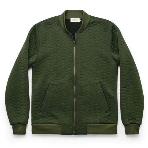 The Inverness Bomber in Olive Knit Quilt - featured image