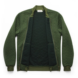 The Inverness Bomber in Olive Knit Quilt: Alternate Image 6
